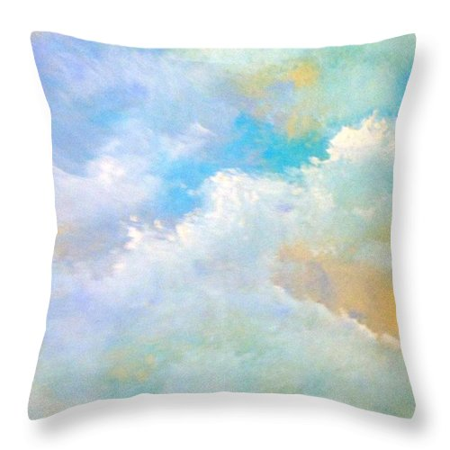 Paintings By Lyle Throw Pillow featuring the painting Clouds by Lord Frederick Lyle Morris - Disabled Veteran