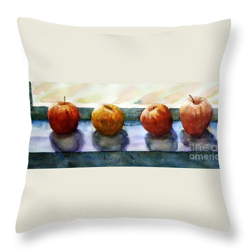 Still Life Throw Pillow featuring the painting 4 Friends by Marisa Gabetta