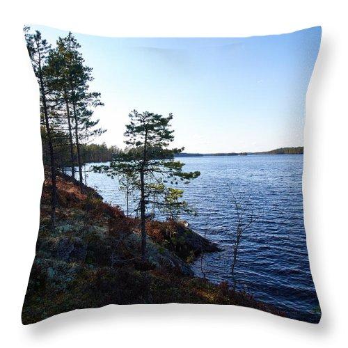 Lehto Throw Pillow featuring the photograph Haukkajarvi by Jouko Lehto