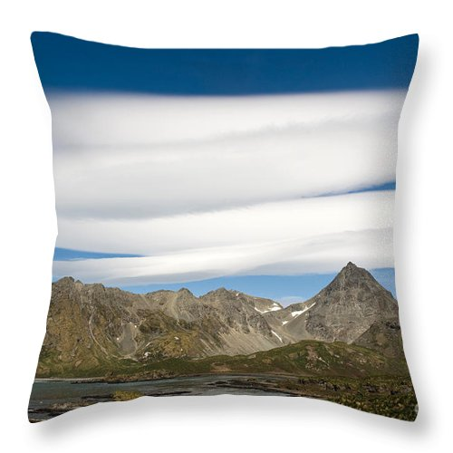 Lenticular Cloud Throw Pillow featuring the photograph Lenticular Clouds by John Shaw