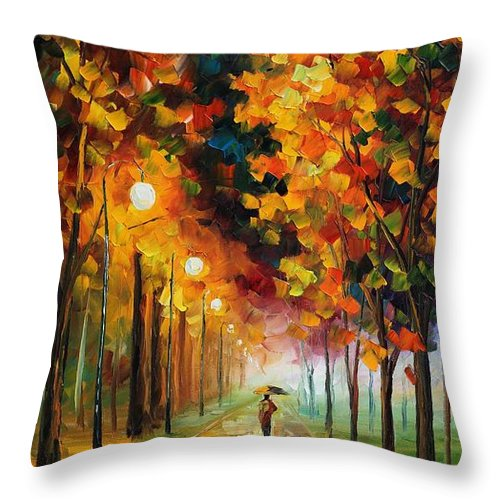 You Can Buy This Painting From This Http://afremov.com/product.php?productid=18608&page=1 Use This 10% Discount Coupon As Well � 45bubble45 Only Today!!!!!! Throw Pillow featuring the painting Light Of Autumn by Leonid Afremov