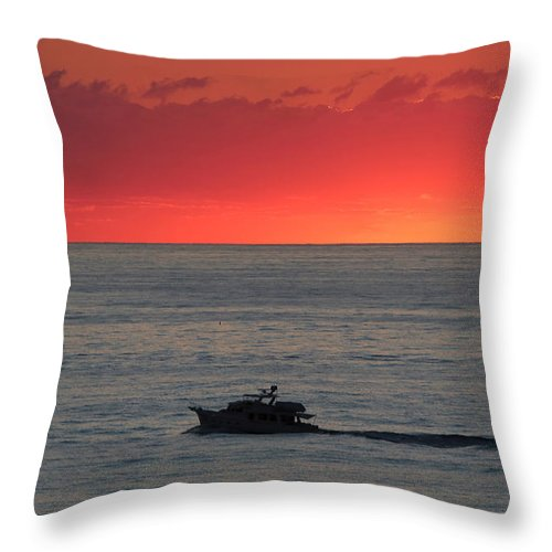 Throw Pillow featuring the photograph Ocean City Md Sunrise by Scott Fracasso