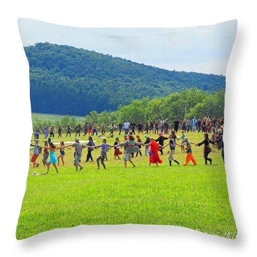 Opening Ceremony Rw2k14 Throw Pillow featuring the photograph Opening Ceremony Rw2k14 by PJQandFriends Photography