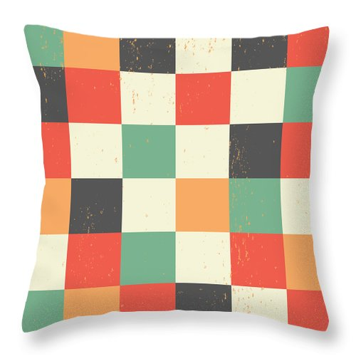 Pixel Throw Pillow featuring the digital art Pixel Art Square by Mike Taylor