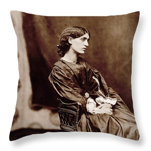 Photo Throw Pillow featuring the photograph Portrait Of Jane Morris by John Parsons
