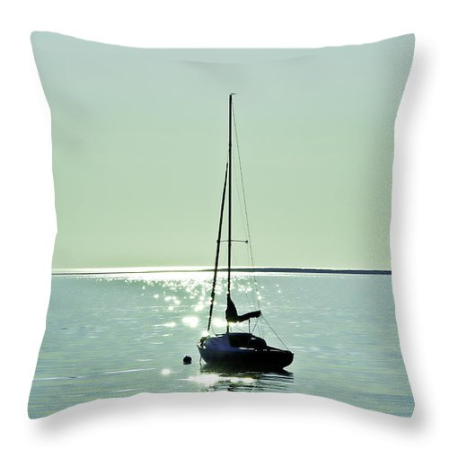 Cape Cod Throw Pillow featuring the photograph Sailboat by John Greim