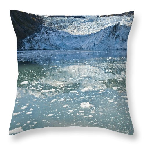 Peak Throw Pillow featuring the photograph Scenic View Of Stairway Glacier R by Jeff Schultz