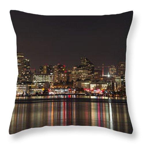 Seattle Skyline On Lake Union Throw Pillow featuring the photograph Seattle Skyline On Lake Union by Yefim Bam
