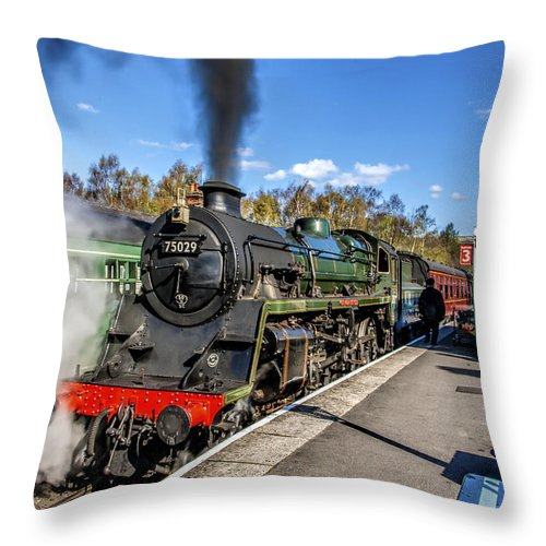 Smoke Throw Pillow featuring the photograph The Green Knight by Trevor Kersley