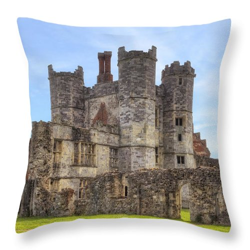 Titchfield Abbey Throw Pillow featuring the photograph Titchfield Abbey by Joana Kruse