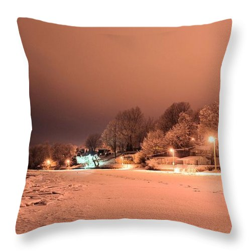 Winter Throw Pillow featuring the photograph Tracybphotography by Tracy Bennett