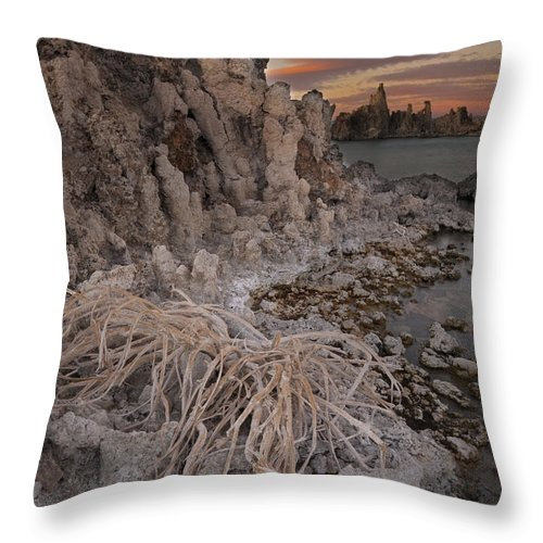 America Throw Pillow featuring the photograph Tufa Formations, Mono Lake, Ca by John Shaw