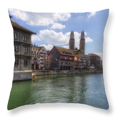 Zurich Throw Pillow featuring the photograph Zurich by Joana Kruse
