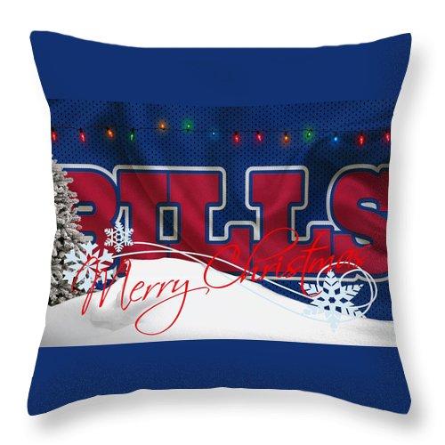 Bills Throw Pillow featuring the photograph Buffalo Bills by Joe Hamilton