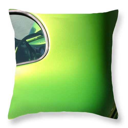 1940 Throw Pillow featuring the photograph 40 Ford - Rear Window-8547 by Gary Gingrich Galleries