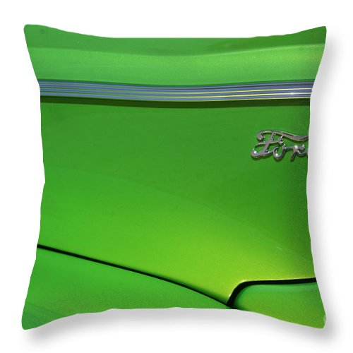 1940 Throw Pillow featuring the photograph 40 Ford - Side Logo-8677 by Gary Gingrich Galleries