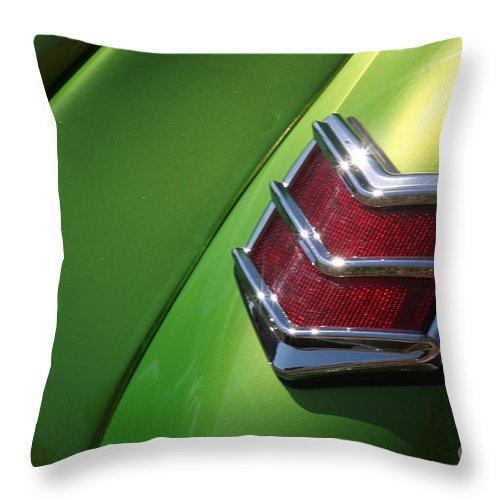 1940 Throw Pillow featuring the photograph 40 Ford - Tail Light-8531 by Gary Gingrich Galleries