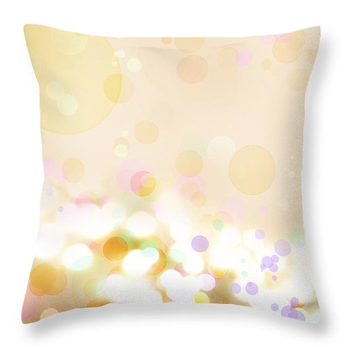 Bright Lights Throw Pillow featuring the digital art Abstract Background by Les Cunliffe