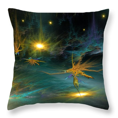 Phil Sadler Throw Pillow featuring the digital art 421 by Phil Sadler