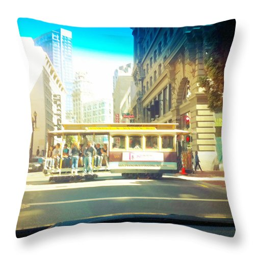 San Francisco Throw Pillow featuring the photograph Untitled by Barbara Ruano