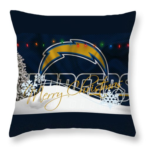 Chargers Throw Pillow featuring the photograph San Diego Chargers by Joe Hamilton