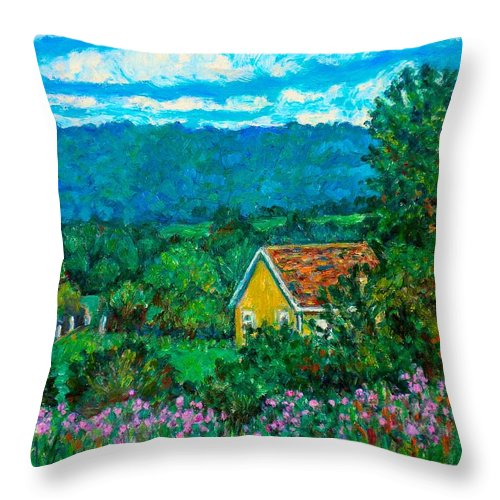 Landscape Throw Pillow featuring the painting 460 by Kendall Kessler