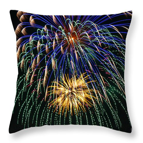 Mannington West Virginia Throw Pillow featuring the photograph 4th Of July 2014 Fireworks Mannington Wv 1 by Howard Tenke