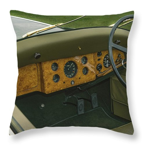 Antique Throw Pillow featuring the photograph 1937 47 Rolls Royce by Jack R Perry