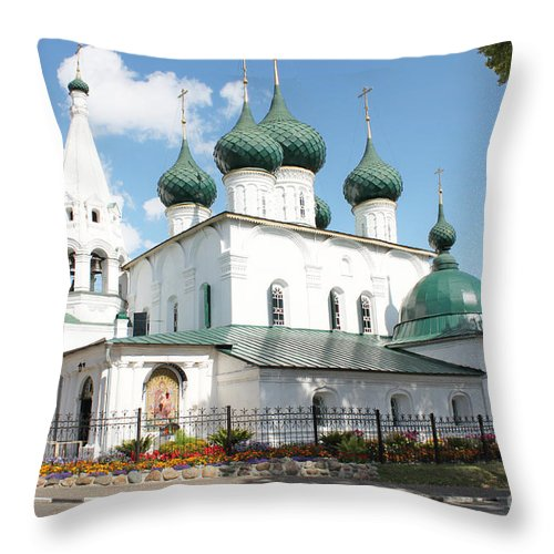Church Throw Pillow featuring the photograph Ancient Church by Evgeny Pisarev