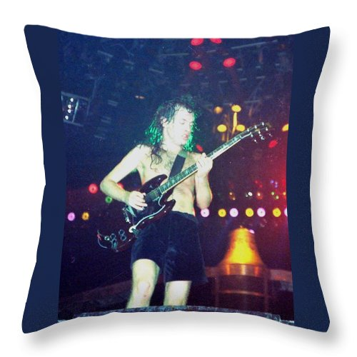 Throw Pillow featuring the photograph Angus Young by Sheryl Chapman Photography