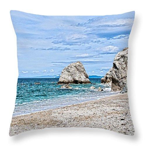 Beach Throw Pillow featuring the photograph Beach by Fabrizio Palumbo