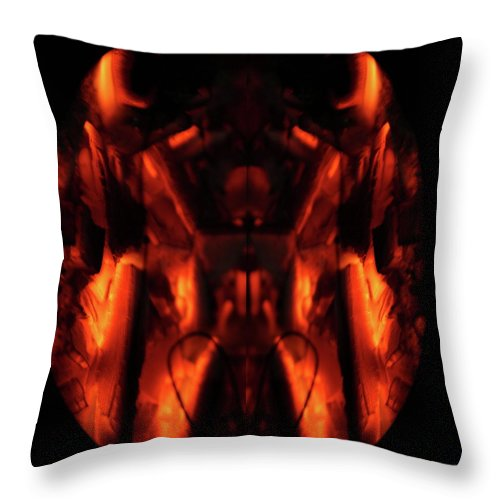 Fire Throw Pillow featuring the photograph Flame Art by Ali Mohamad