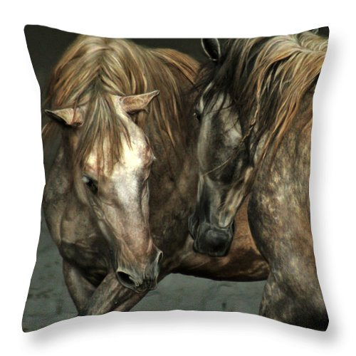 Horse Throw Pillow featuring the photograph Flamenco by Angel Ciesniarska