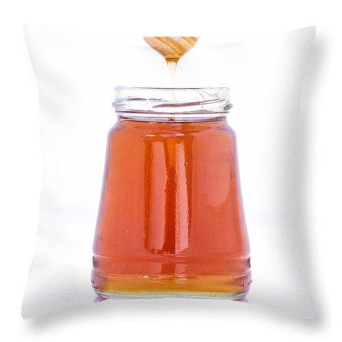 Honey Throw Pillow featuring the photograph Honey by Paulo Goncalves