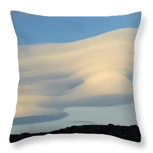 Argentina Throw Pillow featuring the photograph Lenticular At Dawn, Argentina by John Shaw