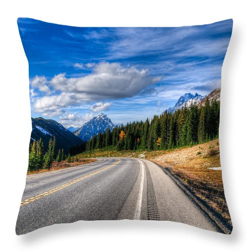 Alberta Throw Pillow featuring the photograph Mountain Views by Brandon Smith
