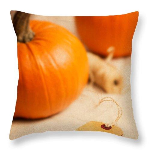 Pumpkin Throw Pillow featuring the photograph Pumpkins by Amanda Elwell