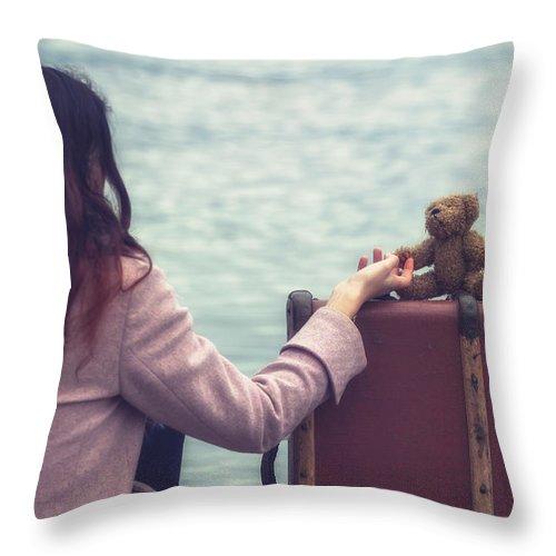 Woman Throw Pillow featuring the photograph Teddy Bear by Joana Kruse