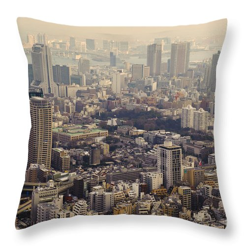 Asia Throw Pillow featuring the photograph Tokyo, Japan by John Shaw