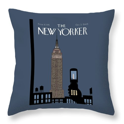 Hold Still Throw Pillow featuring the painting Hold Still by Chris Ware