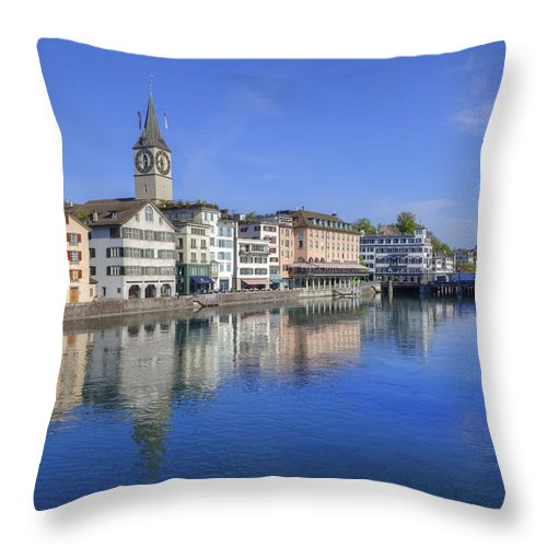 St. Peter Throw Pillow featuring the photograph Zurich by Joana Kruse
