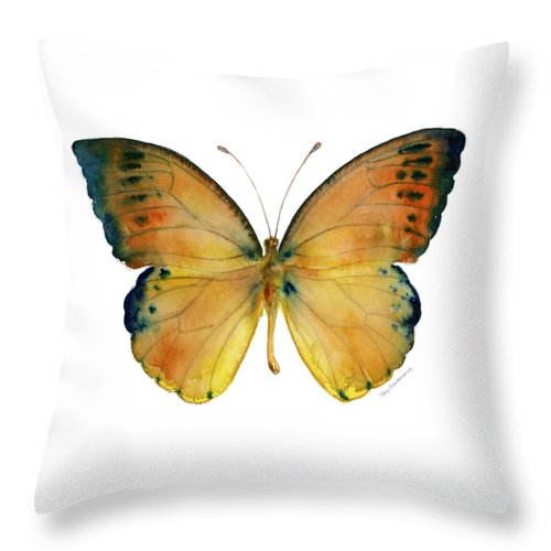 Leucippe Throw Pillow featuring the painting 53 Leucippe Detanii Butterfly by Amy Kirkpatrick
