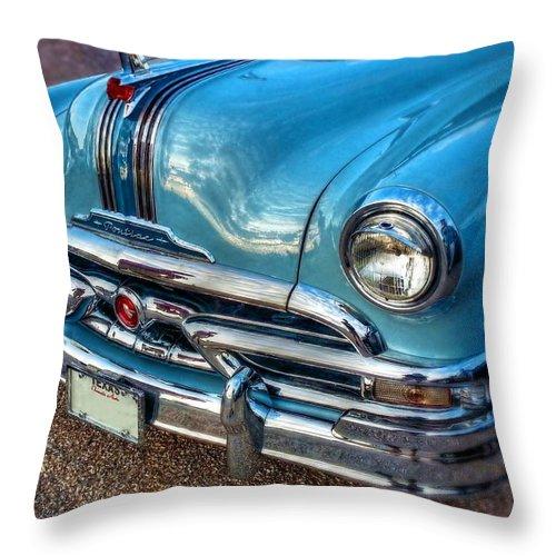 Catalina Throw Pillow featuring the digital art 53 Pontiac Catalina by Linda Unger