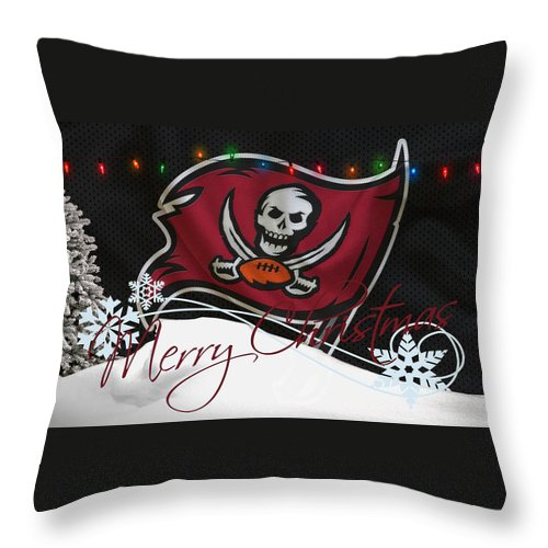 Buccaneers Throw Pillow featuring the photograph Tampa Bay Buccaneers by Joe Hamilton