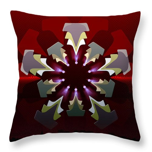 Geometric Abstract Throw Pillow featuring the digital art 5x5 Synthesis 6 by Warren Furman