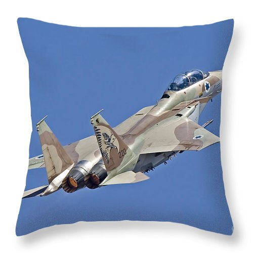 Transportation Throw Pillow featuring the photograph An F-15i Raam Of The Israeli Air Force by Ofer Zidon