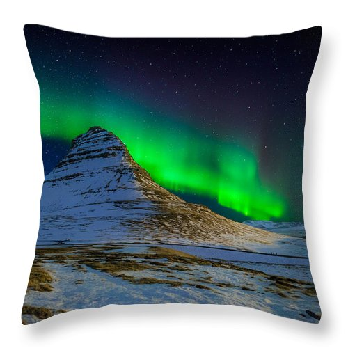 Photography Throw Pillow featuring the photograph Aurora Borealis Or Northern Lights by Panoramic Images