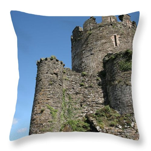 Castles Throw Pillow featuring the photograph Conwy Castle by Christopher Rowlands