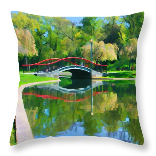 Bridges Throw Pillow featuring the photograph Flyover by Geoff Crego
