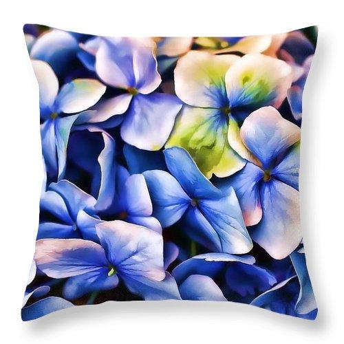 Hydrangea Throw Pillow featuring the photograph Hydrangea by Joyce Baldassarre